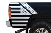 Dodge Ram 1500 2500 Truck Vinyl Decal Custom Graphics White American Flag Design