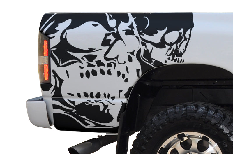 Dodge Ram 1500 2500 Truck Vinyl Decal Custom Graphics Skull Black Design