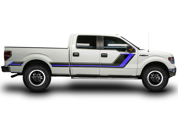 Ford F-150 F150 Truck Vinyl Decal Wrap Factory Crafts Graphics Custom Black Blue Design