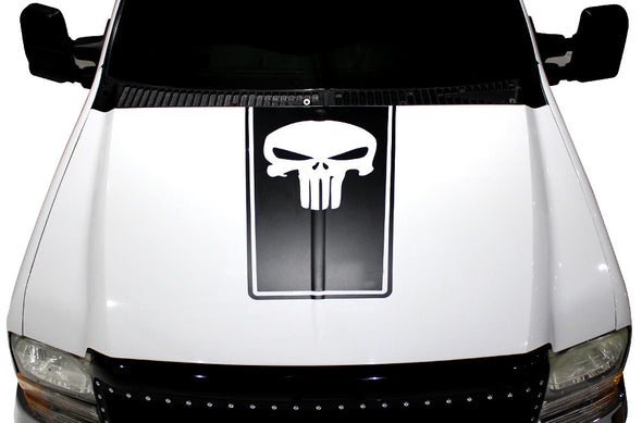 Ford F-250/F-350 (1999-2006) Custom Vinyl Decal Wrap Kit - PUNISHER HOOD STRIPE