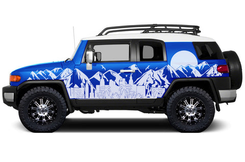 Toyota FJ Cruiser (2007-2014) Custom Vinyl Decal Wrap Kit - LOS DESERT