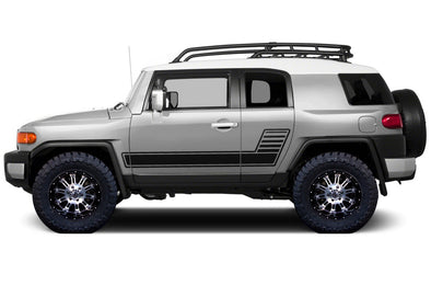 Toyota FJ Cruiser TRD Truck Vinyl Decal Graphics Custom Black Stripe Design