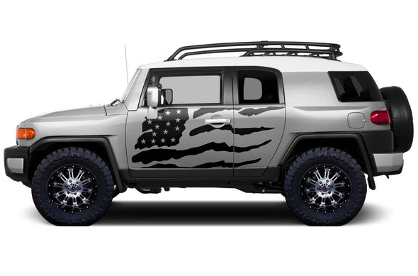 Toyota FJ Cruiser TRD Truck Vinyl Decal Graphics Custom Black American Flag Design
