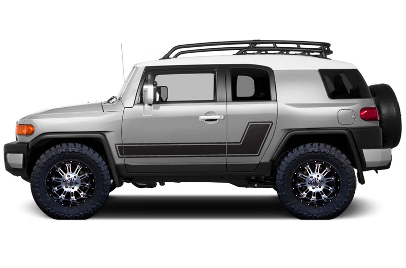 Toyota FJ Cruiser TRD Truck Vinyl Decal Graphics Custom Black Design