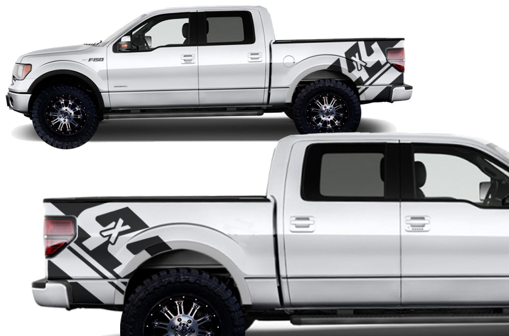 Ford f 150 2009 2014 custom vinyl decal wrap kit 4x4