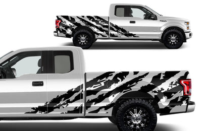 Ford F-150 (2015-2017) SuperCab 6.5 Bed Custom Vinyl Decal Wrap Kit - SHRED