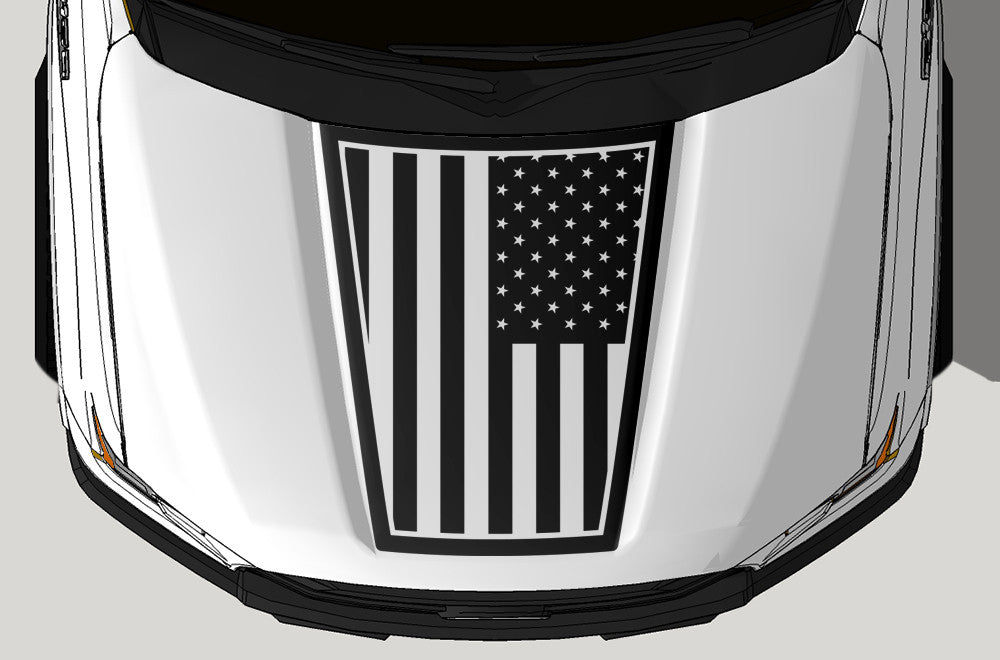 Ford F-150 (2015-2017) Vinyl Hood Decal Wrap Kit - Patriot