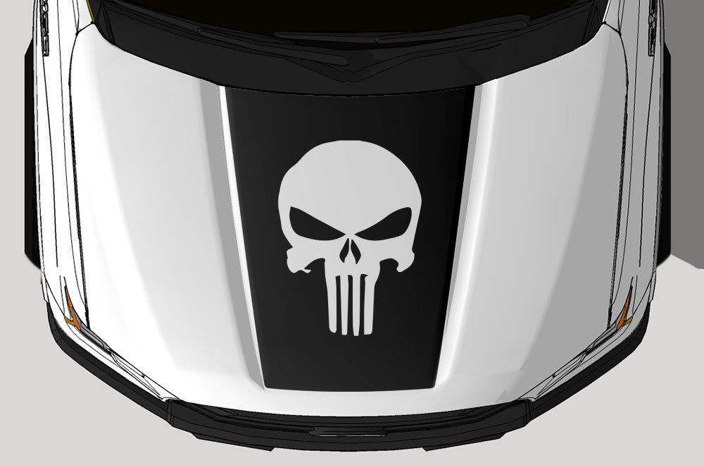 Ford F-150 (2015-2017) Vinyl Hood Decal Wrap Kit - Punisher – Factory Crafts