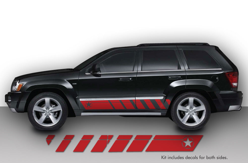 Jeep Grand Cherokee 2005 2010 Custom Vinyl Decal Wrap