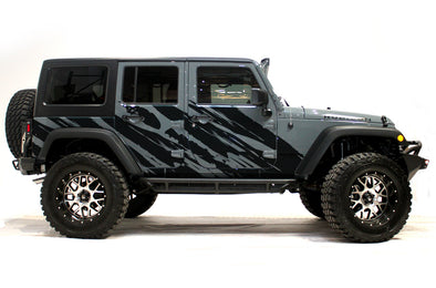 Jeep Wrangler (2007-2016) Custom Vinyl Decal Wrap Kit - SHRED