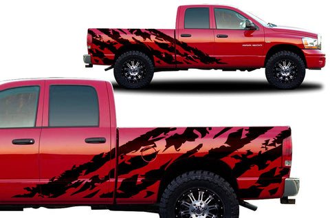 Dodge Ram 1500/2500 (2002-2008) Custom Vinyl Decal Kit - Halfside Shred