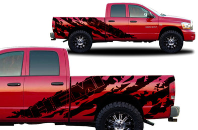 Dodge Ram 1500 2500 Truck Vinyl Decal Custom Graphics Black Design