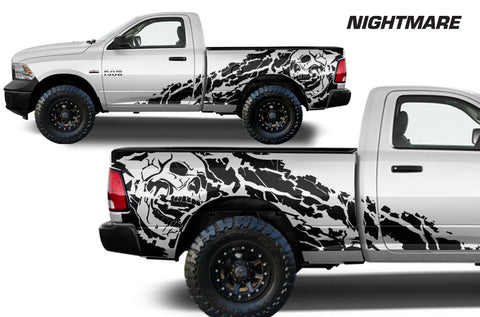 Dodge Ram 1500/2500 (2009-2014) MIDBOX Custom Vinyl Decal Kit - NIGHTMARE