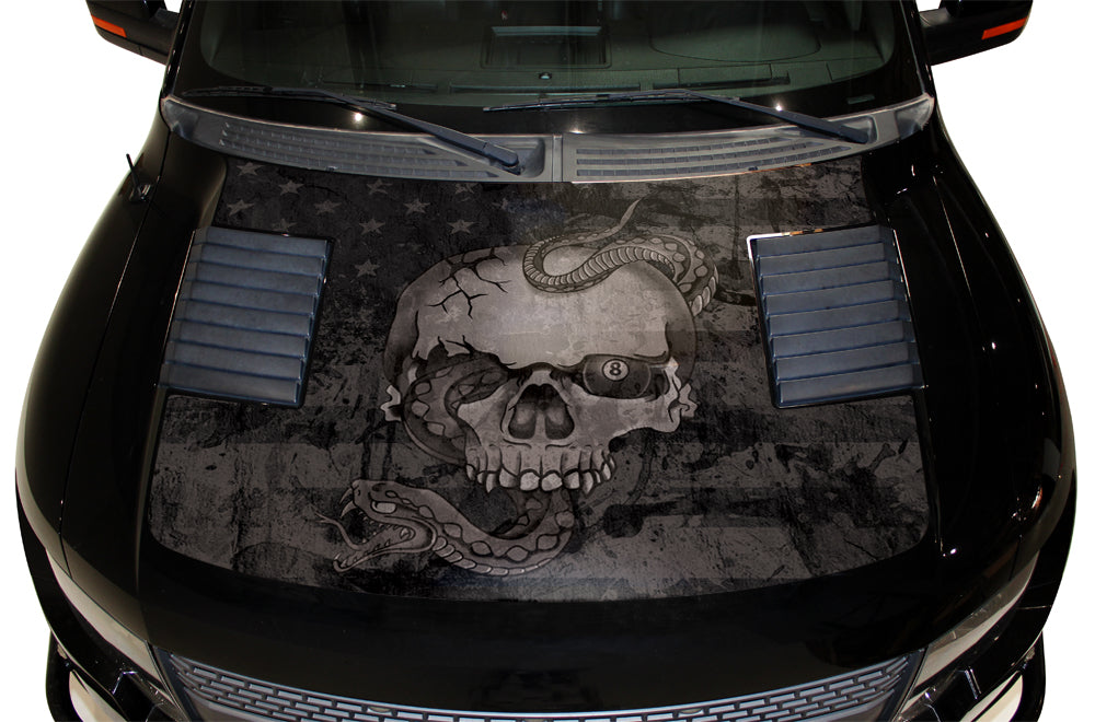Ford F-150 SVT Raptor (2010-2014) Custom Vinyl Decal Kit - Skull Hood Wrap