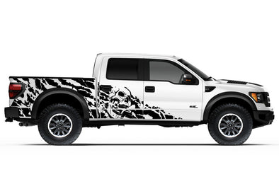 Ford Raptor F-150 F150 2010 2011 2013 2014 Truck Vinyl Decal Graphics Wrap Kit Factory Crafts Custom Black
