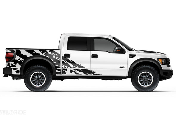 Ford Raptor F-150 F150 2015 2016 2017 2018 Truck Vinyl Decal Graphics Wrap Kit Factory Crafts Custom Black
