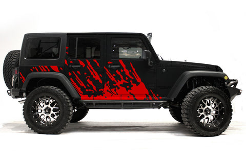 Jeep Wrangler (2007-2016) Custom Vinyl Decal Wrap Kit - BURST