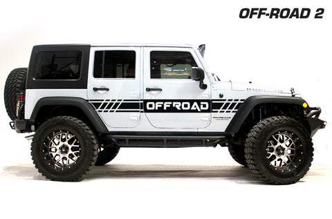 Jeep Wrangler (2007-2016) Custom Vinyl Decal Wrap Kit - OFF ROAD 2