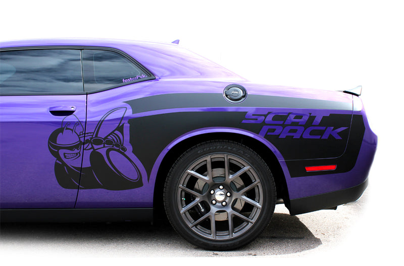 Dodge Challenger Car Vinyl Decal Custom Graphics Black Scat Pack Design