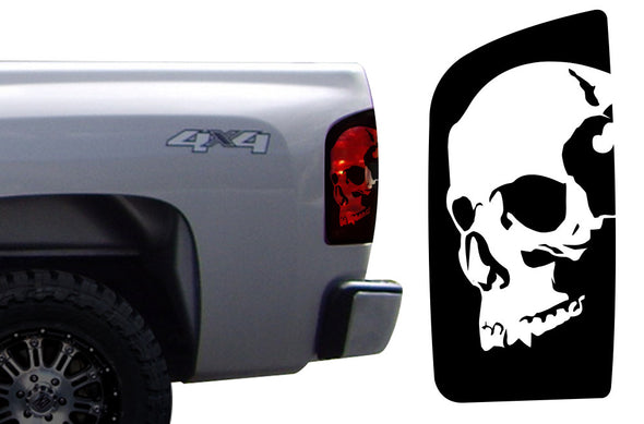Chevy Chevrolet  Silverado Car Decal Vinyl Graphics Black Skull Brake Light Design