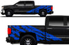 Chevy Chevrolet  Silverado 2014 2015 2016 2017 Truck Decal Vinyl Graphics Blue Design