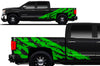 Chevy Chevrolet  Silverado 2014 2015 2016 2017 Truck Decal Vinyl Graphics Green Design