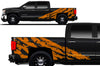 Chevy Chevrolet  Silverado 2014 2015 2016 2017 Truck Decal Vinyl Graphics Orange Design