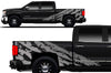 Chevy Chevrolet  Silverado 2014 2015 2016 2017 Truck Decal Vinyl Graphics Silver Design