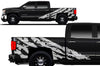 Chevy Chevrolet  Silverado 2014 2015 2016 2017 Truck Decal Vinyl Graphics White Design