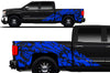 Chevy Chevrolet  Silverado 2014 2015 2016 2017 Truck Decal Vinyl Graphics Blue Skull Design