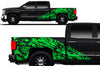 Chevy Chevrolet  Silverado 2014 2015 2016 2017 Truck Decal Vinyl Graphics Green Skull Design