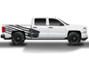 Chevy Chevrolet  Silverado 2014 2015 2016 2017 Truck Decal Vinyl Graphics Black American Flag Design