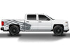 Chevy Chevrolet  Silverado 2014 2015 2016 2017 Truck Decal Vinyl Graphics Gray American Flag Design