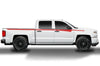 Chevy Chevrolet  Silverado 2014 2015 2016 2017 Truck Decal Vinyl Graphics Red Design