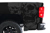 Chevy Chevrolet  Silverado 2014 2015 2016 2017 Truck Decal Vinyl Graphics Gray Skull Design