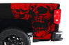 Chevy Chevrolet  Silverado 2014 2015 2016 2017 Truck Decal Vinyl Graphics Red Skull Design
