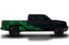 Chevy Chevrolet Silverado Car Decal Vinyl Graphics Green Skull Design