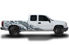 Chevy Chevrolet Silverado Car Decal Vinyl Graphics Gray Skull Design