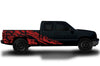 Chevy Chevrolet Silverado Car Decal Vinyl Graphics Red Skull Design