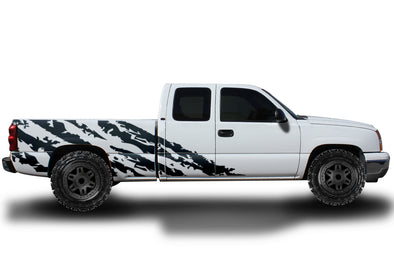 Chevy Chevrolet  Silverado Car Decal Vinyl Graphics Black Stripe Design