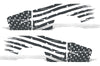 Chevy Chevrolet Silverado Car Decal Vinyl Graphics Gray American Flag Design