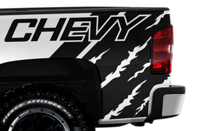 Chevy Chevrolet  Silverado Car Decal Vinyl Graphics Black Design