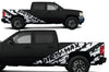 Chevy Chevrolet Silverado Car Decal Vinyl Graphics White Design