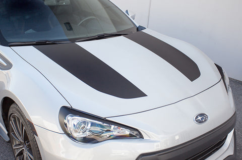 Subaru BRZ (2013-2014) Custom Vinyl Decal Wrap Kit - Hood Stripes Solid