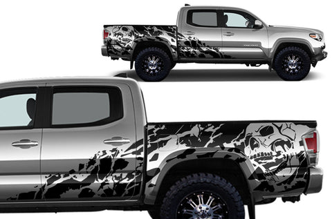 "Toyota Tacoma (2016-2017) Full Decal Wrap Kit - ""NIGHTMARE"" - 4D Short Bed"