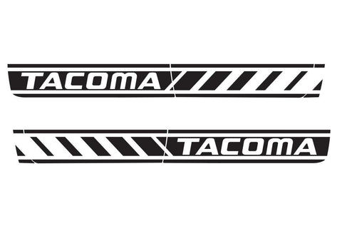 "Toyota Tacoma (2005-2015) Full Decal Wrap Kit - ""TACOMA"" Rocker Panel - 4 Door"