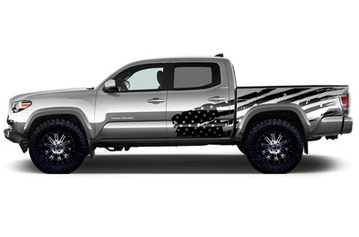 Toyota Tacoma TRD Truck Vinyl Decal Graphics Custom Black American Flag Design