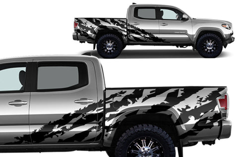 "Toyota Tacoma (2016-2017) Full Decal Wrap Kit - ""SHRED"" - 4D Short Bed"