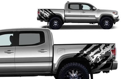 "Toyota Tacoma (2016-2017) Rear Decal Wrap Kit - ""RIPPED"""