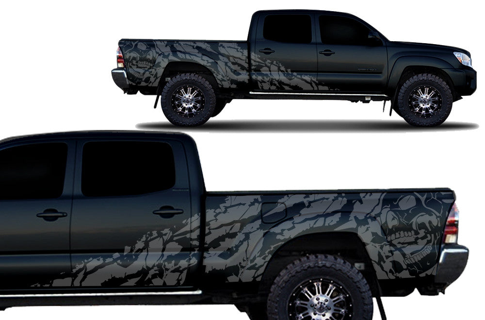 Toyota Tacoma 4d 2005 2015 Long Bed Full Decal Wrap Kit